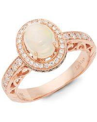 Le Vian - 14k Strawberry Gold, Opal, Chocolate Diamond & Vanilla Diamond Ring - Lyst