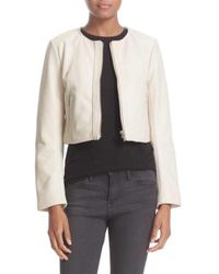 VEDA - 'dale' Crop Leather Jacket - Lyst