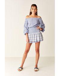 Suboo - Shirred Off Shoulder Mini Dress - Lyst