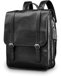 Samsonite - Mens Leather 1910 Heritage Backpack - Lyst
