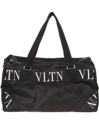 bc173f5b1e14 Lyst - Versace Logo-embellished Nylon Duffle Bag in Black for Men