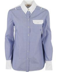 Tory Burch - White Collar Cotton Shirt - Lyst