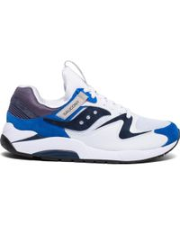 Saucony Grid 9000 HT White Jersey Shoes