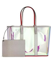 25690ebf0a Christian Louboutin - Cabata Holographic Vinyl And Glitter Tote - Lyst