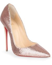 Christian Louboutin - So Kate 120 Blush Sequin Pumps - Lyst