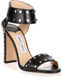 Jimmy Choo - Veto Silver Studded Sandal - Lyst