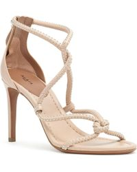 Alaïa - Nude Soft Leather Studs Sandals - Lyst