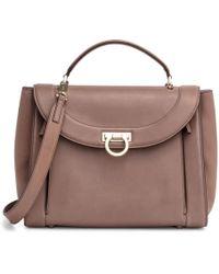 Ferragamo - Sofia Medium Rainbow Brown Bag - Lyst