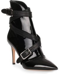 Gianvito Rossi - Parker 85 Black Patent Leather Bootie - Lyst