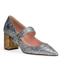 Rochas - Silver Brocade 60 Pointed Court Shoes - Lyst