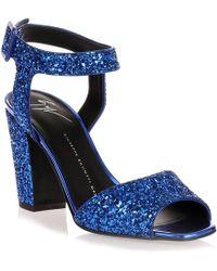 Giuseppe Zanotti - Electric Blue Glitter Sandal - Lyst