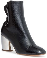 Proenza Schouler - Black Leather 70 Eyelet Boots - Lyst