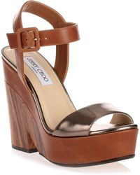Jimmy Choo - Nico Canyon Pyrite Wedge Sandal - Lyst