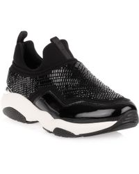 Ferragamo - Giolly Black Beaded Trainer - Lyst