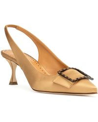 Manolo Blahnik - Dolores Yellow Satin Court Shoes - Lyst