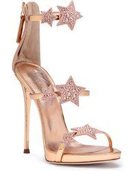Giuseppe Zanotti - Harmony Star 120 Rose Gold Leather Sandals - Lyst