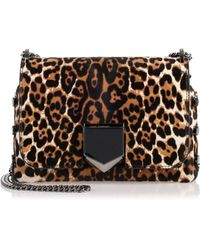 Jimmy Choo - Lockett Petite Leopard Shoulder Bag Us - Lyst