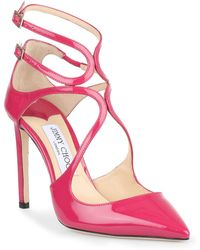 9475b116f67 Jimmy Choo Lancer 35mm Patent Leather Pumps in Red - Lyst