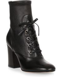 Gianvito Rossi - Palmer 85 Black Leather Boot - Lyst