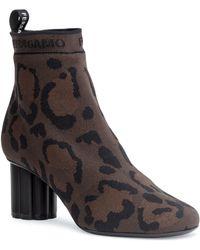Ferragamo - Capo 55 Leopard Sock Booties - Lyst