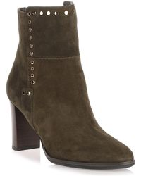 Jimmy Choo - Harlow Army Green Studded Bootie Us - Lyst