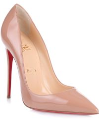 Christian Louboutin - So Kate 120 Nude Patent Pump Us - Lyst