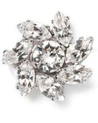 Jimmy Choo - Fleur Clear Crystal Jewelled Button Us - Lyst