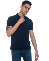 U.S. POLO ASSN. - Gregori Polo Short-sleeved Polo Shirt In Piquè - Lyst