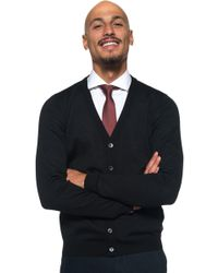 BOSS by Hugo Boss - Cardigan With Buttons - Lyst