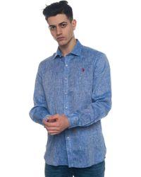 U.S. POLO ASSN. - Adam Long-sleeved Linen Shirt - Lyst