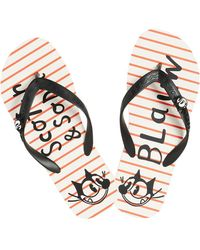 Scotch & Soda - Striped Flip Flops Felix The Cat - Lyst