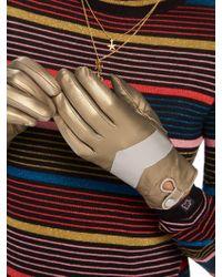 Scotch & Soda - Metallic Leather Gloves - Lyst
