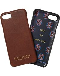 Scotch & Soda - Leather Coated Iphone 7 Case - Lyst