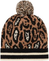 Scotch & Soda - Animal Print Beanie - Lyst