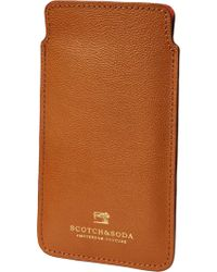Scotch & Soda - Leather Samsung Galaxy S7 Sleeve - Lyst