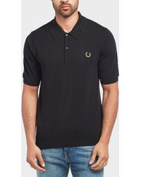 Fred Perry - X Miles Kane Short Sleeve Knitted Polo Shirt - Lyst