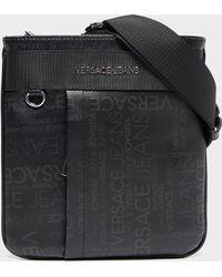 Versace Jeans Mini Logo Messenger Bag in Black for Men - Lyst 88fe70091eaa4