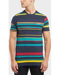 Gio Goi - Engineered Stripe Short Sleeve T-shirt - Lyst