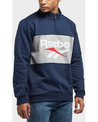 Reebok - Vector 1/2 Zip Fleece Sweatshirt - Lyst