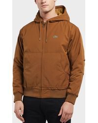 Lacoste - Quilted Twill Hooded Bomber Jacket - Lyst
