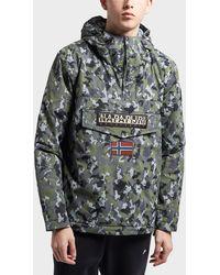 Napapijri - Mens Rainforest Padded Jacket Khaki/camo - Lyst