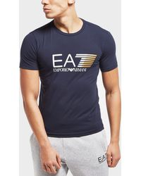 EA7 - Visibility Stretch Short Sleeve T-shirt - Lyst
