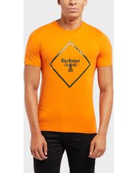 Barbour - Beacon Large Logo Short Sleeve T-shirt - Lyst