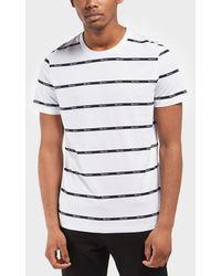 Aquascutum - Branded Stripe Short Sleeve T-shirt - Lyst
