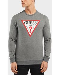 Guess - Triangle Logo Sweatshirt - Lyst