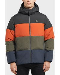 Lacoste - Colour Block Padded Jacket - Lyst
