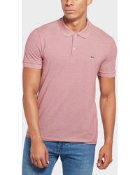 Lacoste - Mini Stripe Pique Short Sleeve Polo Shirt - Lyst