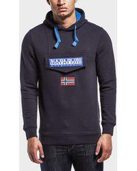 Napapijri - Logo Hooded Sweatshirt - Lyst