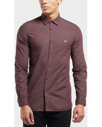 Lacoste - Beye Dot Long Sleeve Shirt - Lyst