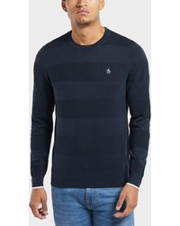 c667abe5f287 Fresh Anti Youth Band-crewneck Sweater Navy in Blue for Men - Lyst